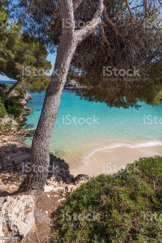 Cala Esmerelda Beach, Mallorca, Spain stock photo