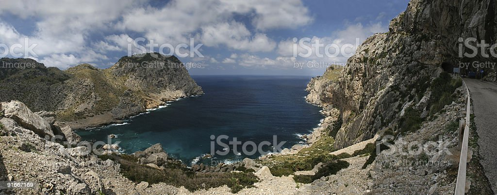 Cala Figuera (Formentor, Mallorca) Panorama XXL royalty-free stock photo