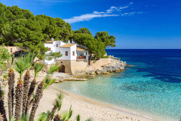 Cala Gat at Ratjada, Mallorca - beautiful beach and coast stock photo