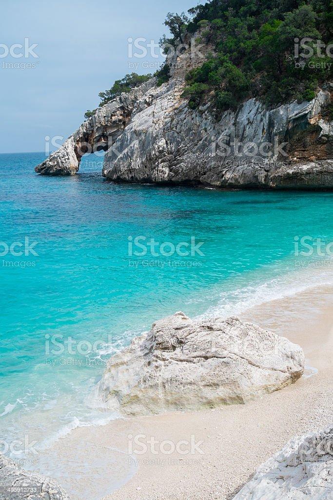 Cala Goloritze beach stock photo