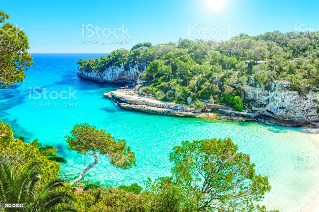 Cala Llombards Mallorca Spain - foto stock