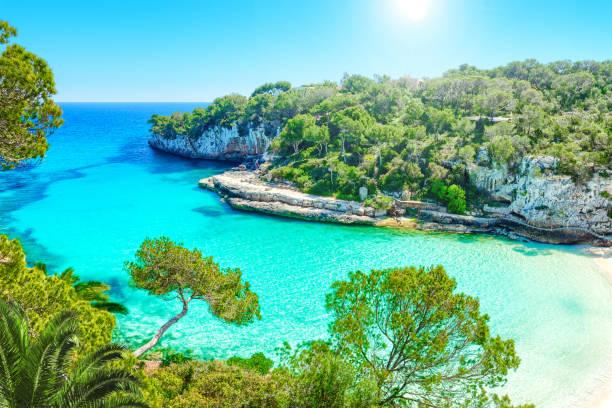 Cala Llombards Mallorca Spain - foto stock