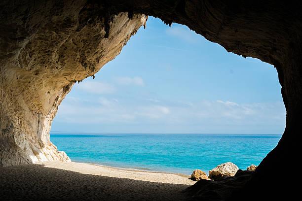 Cala Luna beach stock photo