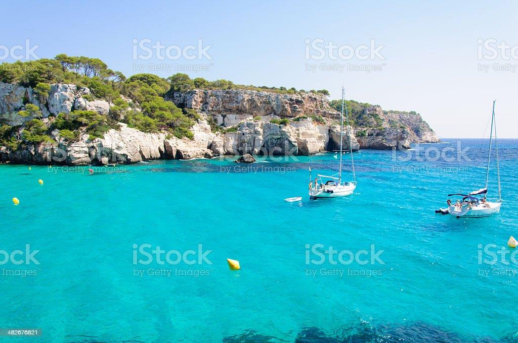 Cala Macarella bay, Island of Menorca, Balearic Islands, Spain stock photo