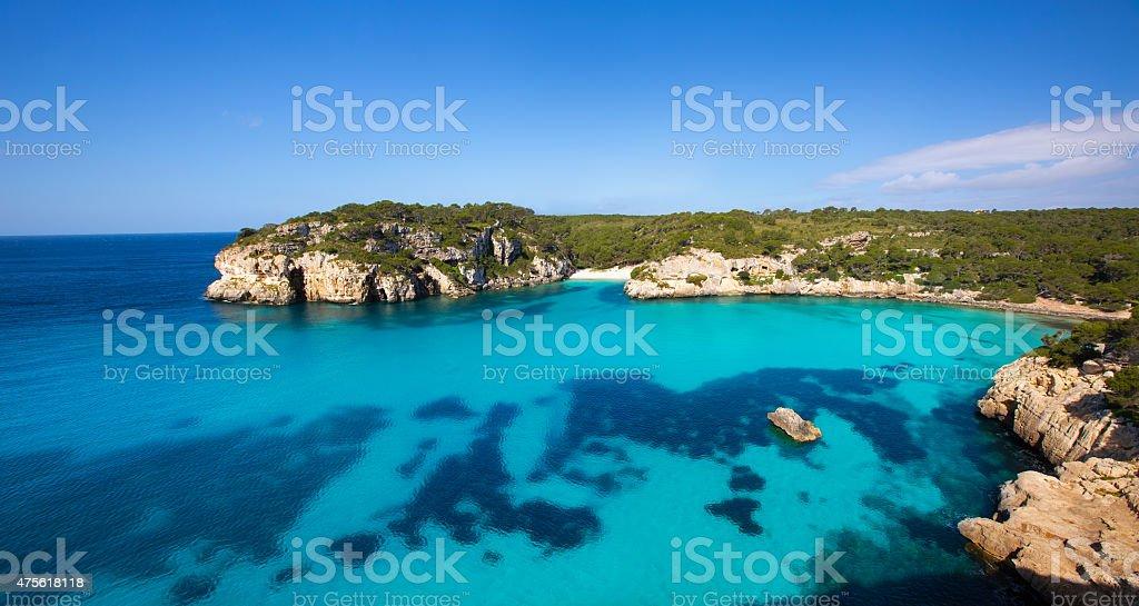 Cala Macarella Macarelleta Cituradella in Menorca Balearic stock photo