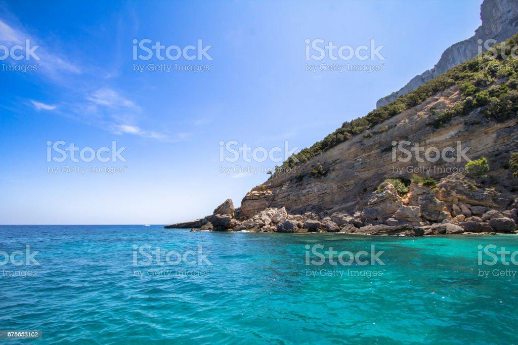 Cala Mariolu beach on the Sardinia island, Italy royalty-free stock photo