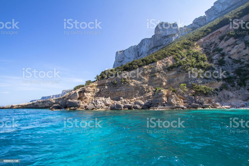 Cala Mariolu beach on the Sardinia island, Italy royalty-free stock photo