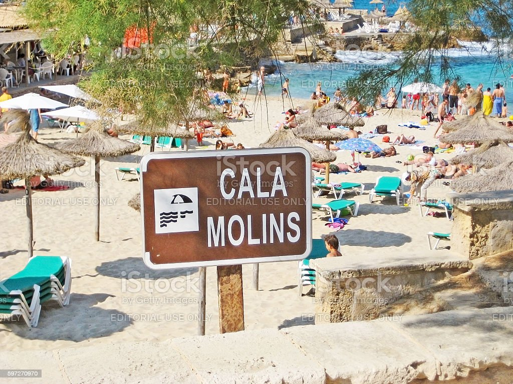 Cala Molins, beach in Cala Sant Vicenc, Majorca photo libre de droits