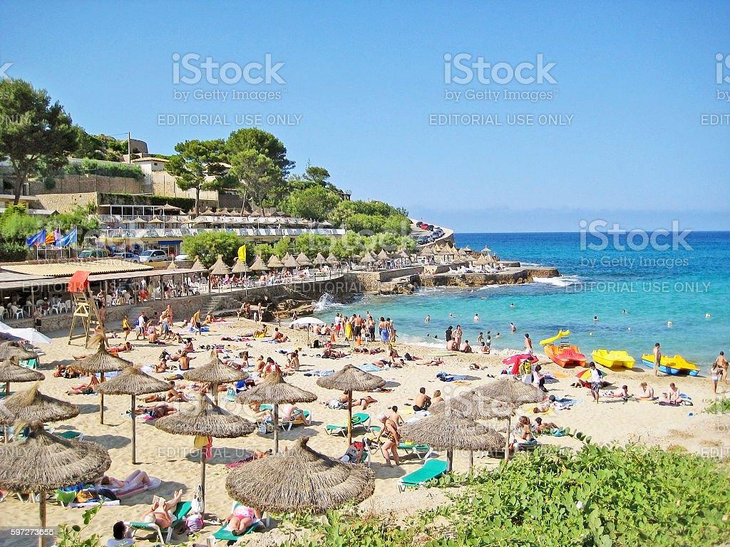 Cala Molins, beach in Cala Sant Vicenc, Majorca royalty-free stock photo