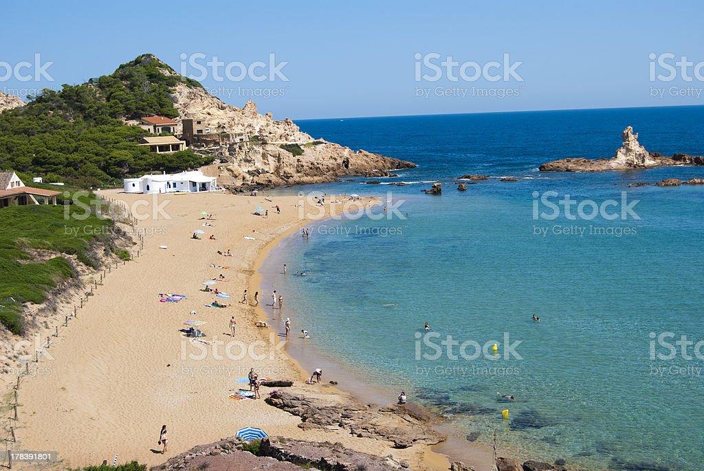 Cala Pregonda, Menorca stock photo