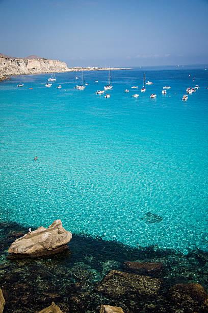 Cala Rossa Favignana Sicily - Egadi Islands stock photo