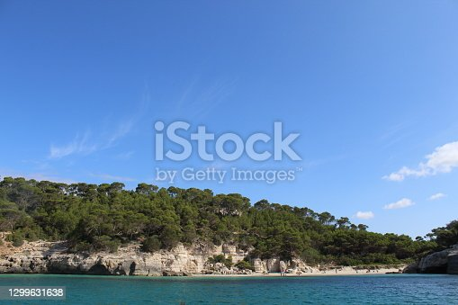 Image of the beach of Trebaluger in Menorca