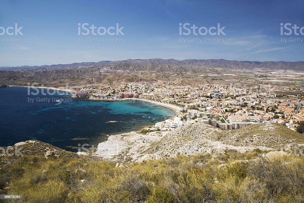 Calabardina beach and village in Murcia Spain royalty-free stock photo