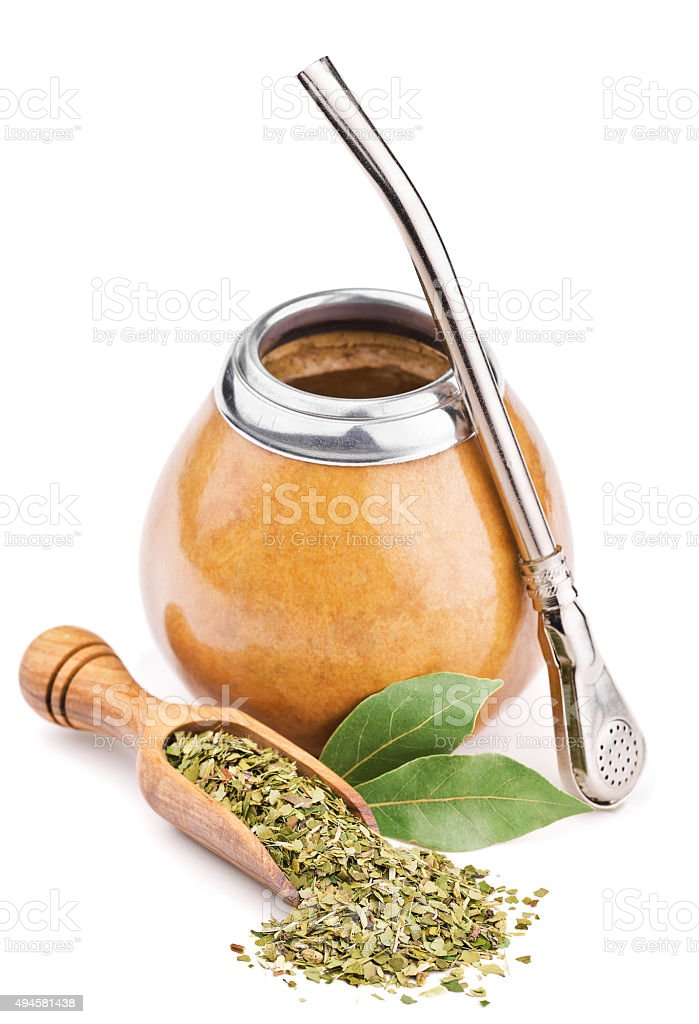 calabash and dry mate tea stock photo