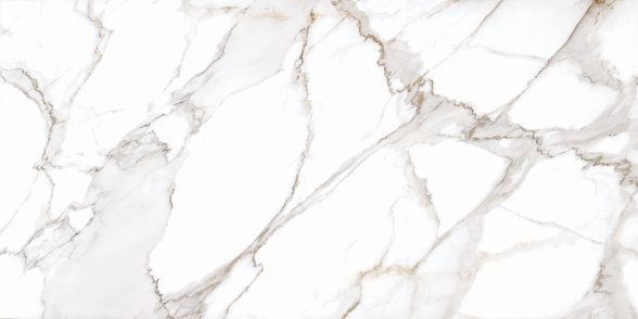 Calacatta White Marble Texture Stock Photo - Download Image Now - iStock