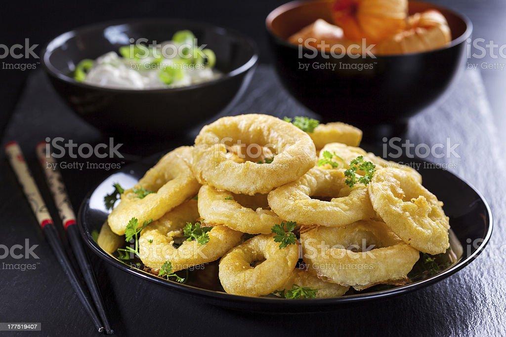 Calamari rings royalty-free stock photo