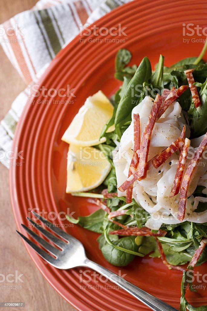 Calamari Salad royalty-free stock photo