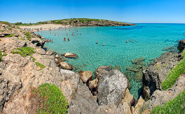 calamosche beach probably the more beautiful in italy - noto sicilië stockfoto's en -beelden