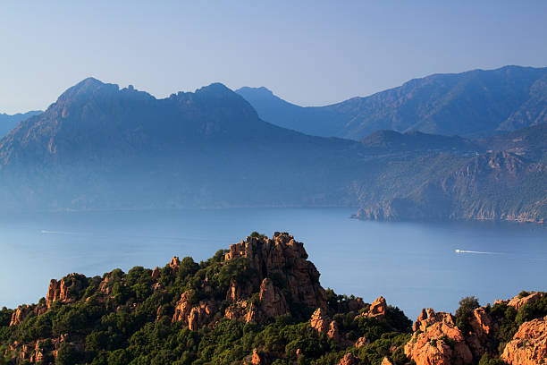 calanches di piana - nature reserve stock photos and pictures