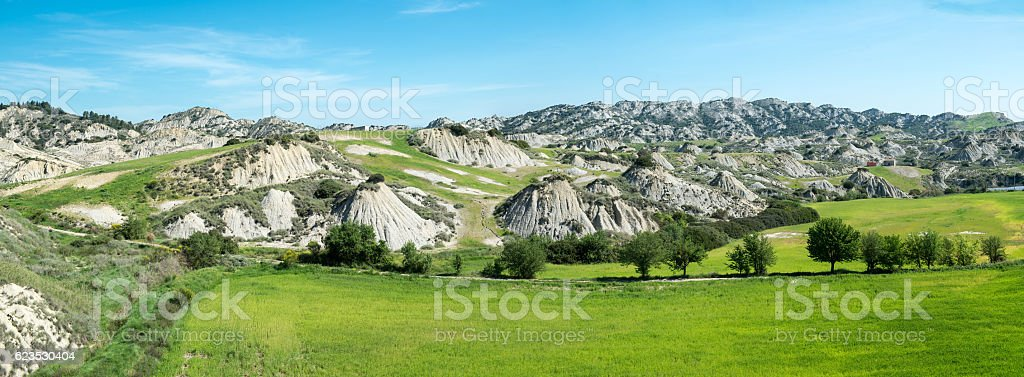 Calanchi mountains of panorama view - foto stock