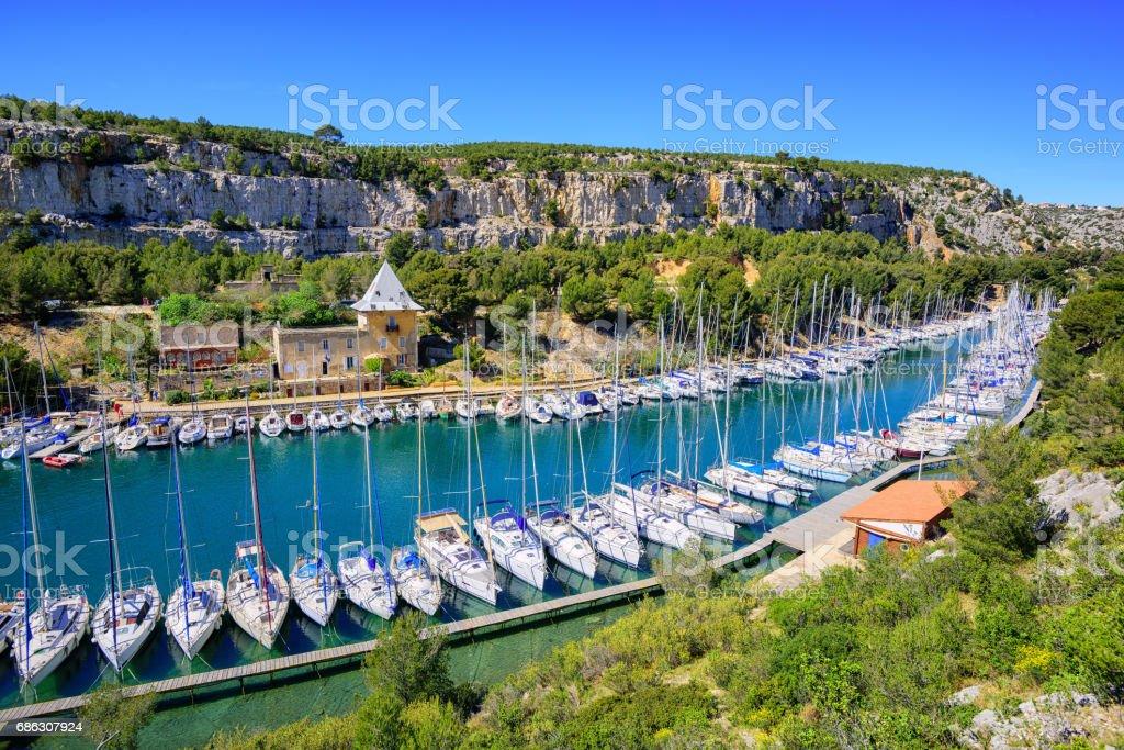 Calanque de Port Miou, Cassis, France stock photo