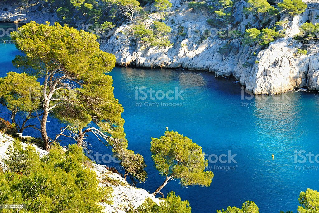 calanque  of Cassis stock photo