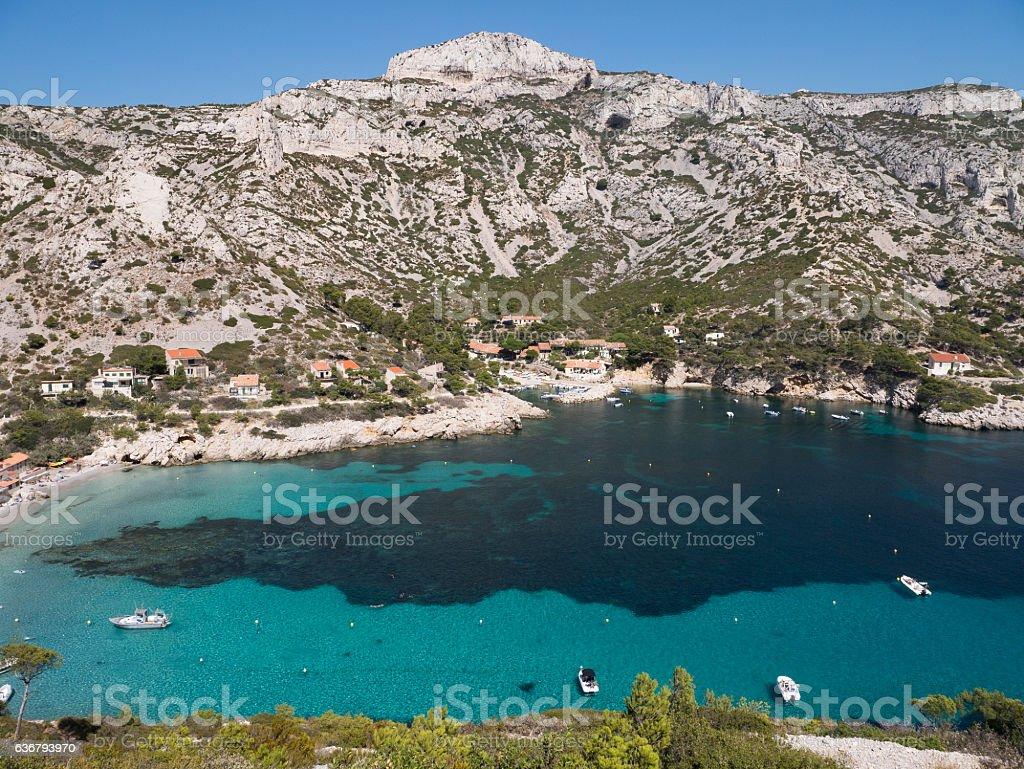 Calanque Sormiou - Beach at Marseille royalty-free stock photo