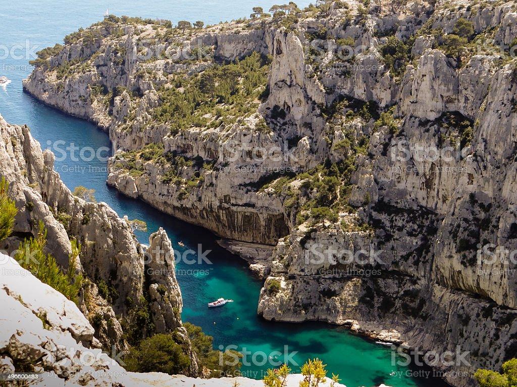 Calanques de Marseille stock photo