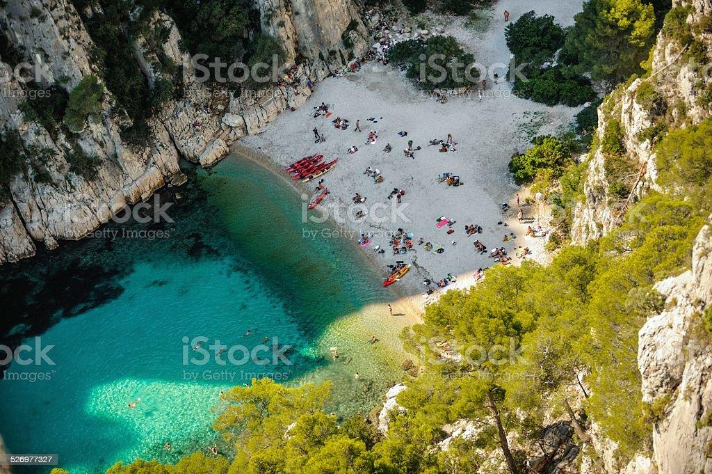 Calanques d'En Vau - French Riviera stock photo