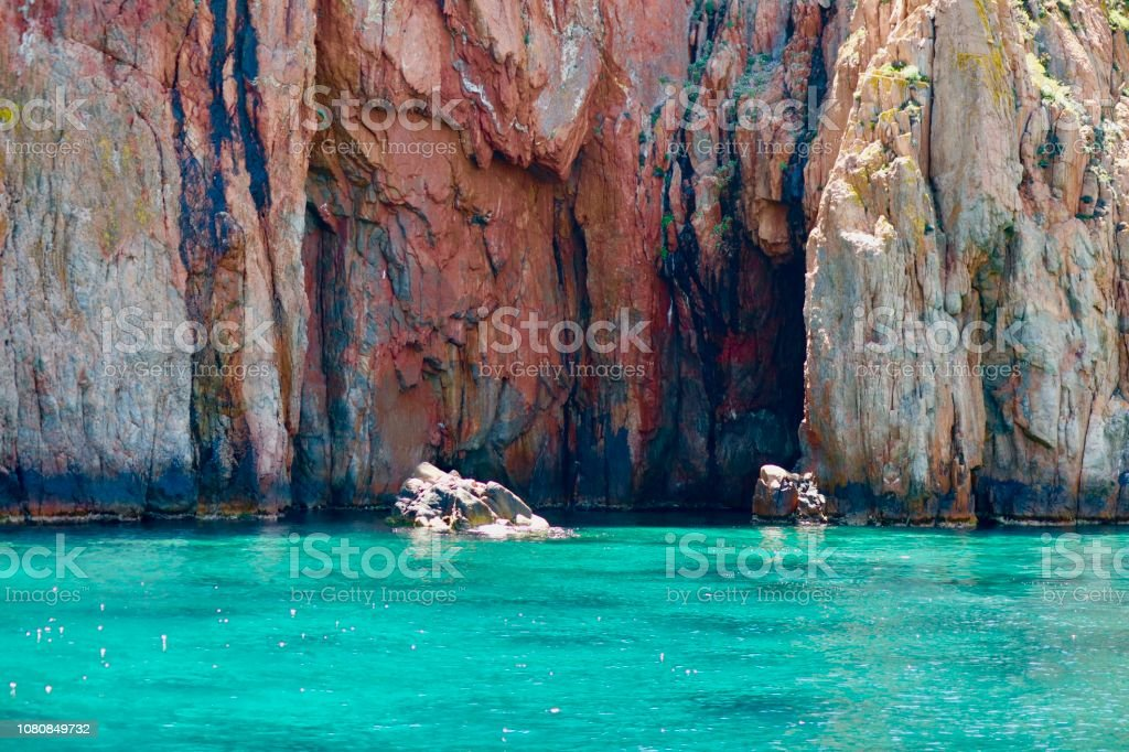 Calanques in Corsica stock photo