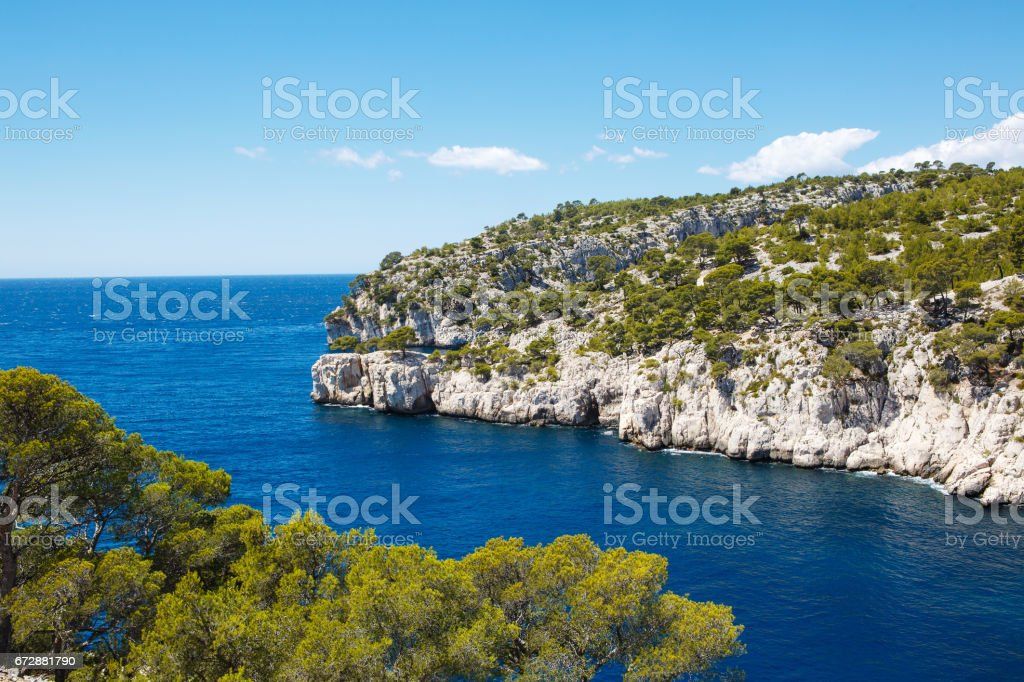 Calanques of Port Pin in Cassis, Provence, France stock photo