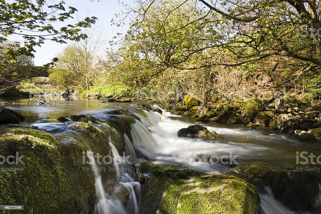 Calbeck Priest Mill Waterfall royalty-free stock photo