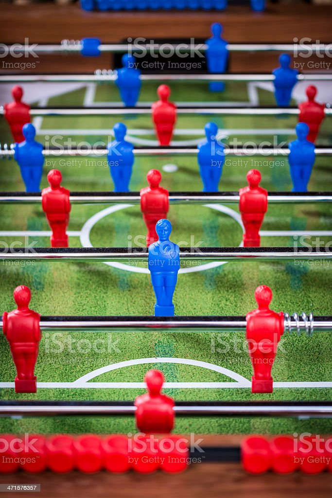 Calcetto foosball table football royalty-free stock photo