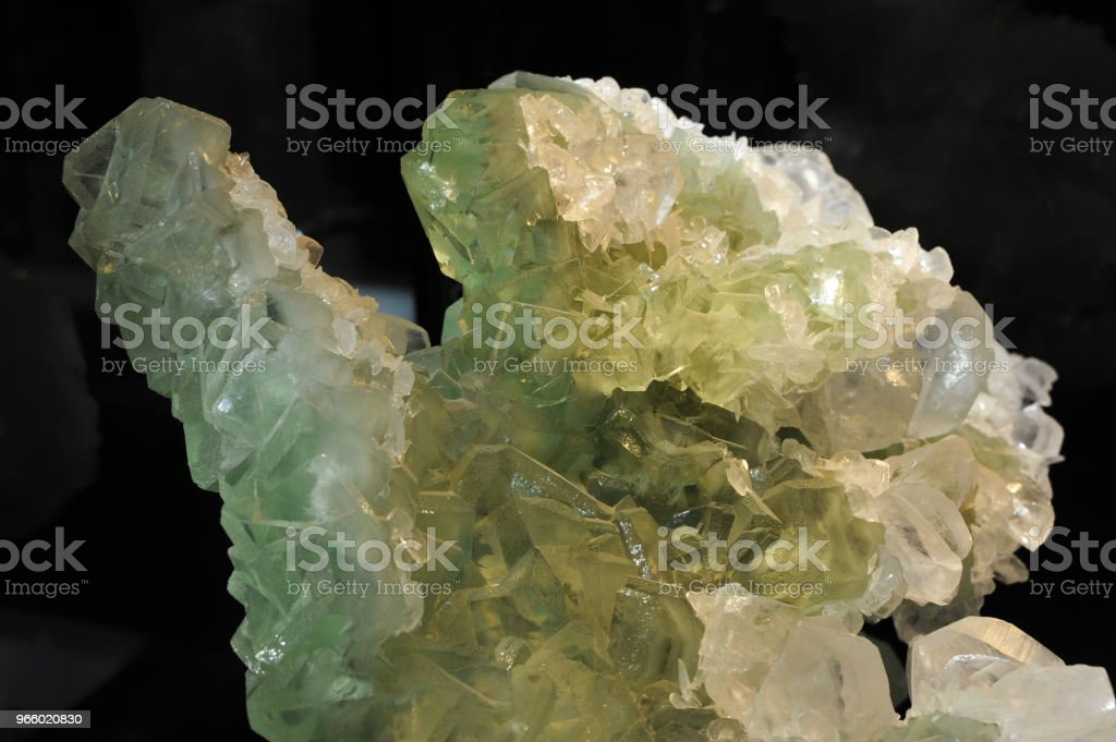 Calcite and fluorite - Royalty-free Backgrounds Stock Photo