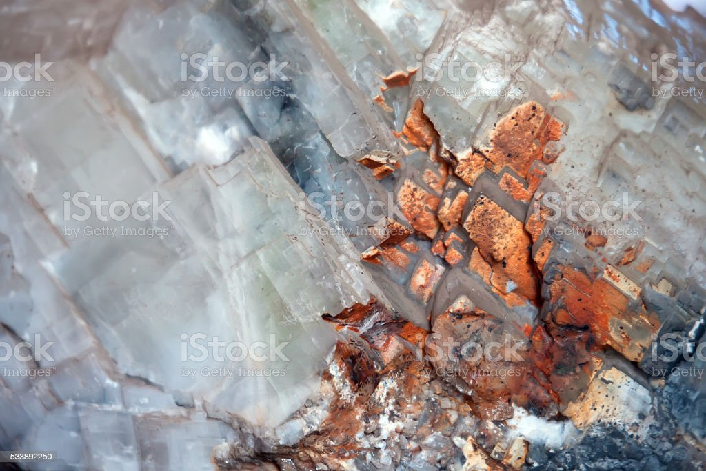 Calcite mineral background stock photo