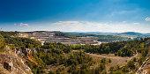 View of calcite quarry in Bohemian karst, Czech republic
