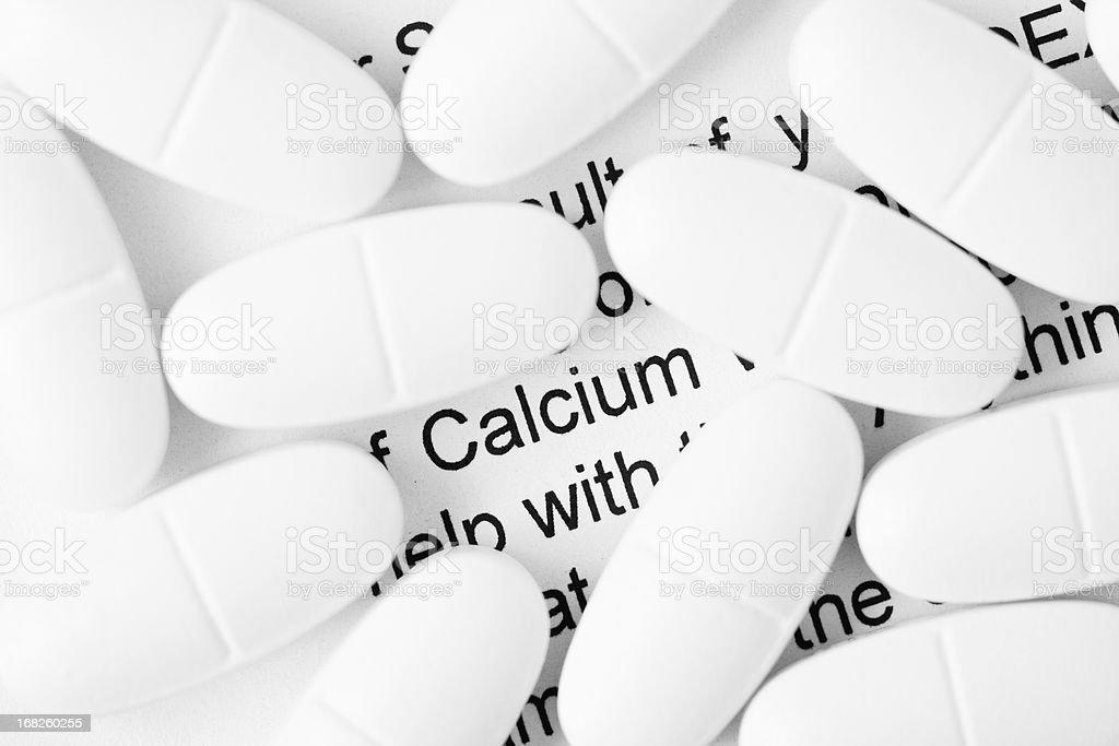 Calcium Pills stock photo