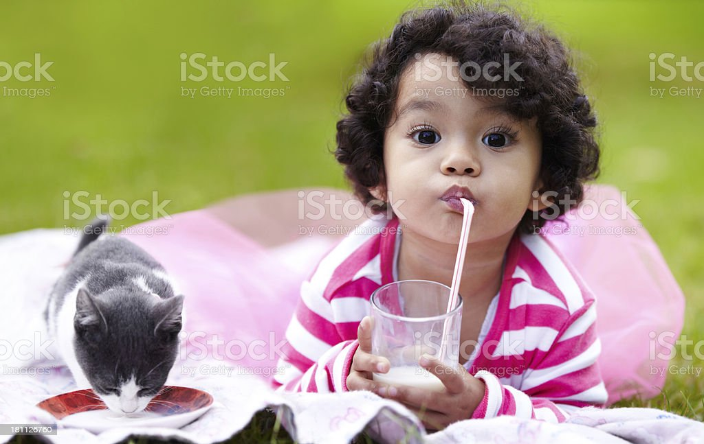 Calcium's important for them both! - Nutrition stock photo