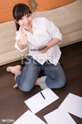 Calculate Bills Stock Photo & More Pictures of Adult