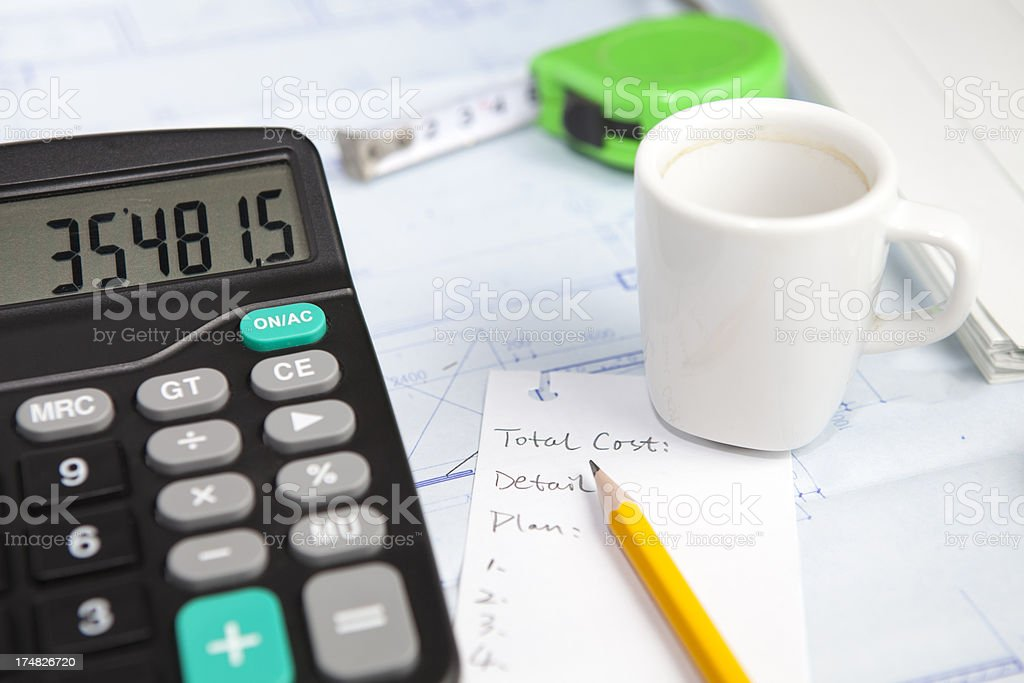 calculate cost royalty-free stock photo