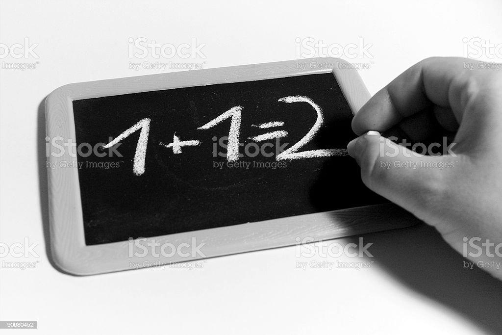 Calculate on blackboard royalty-free stock photo