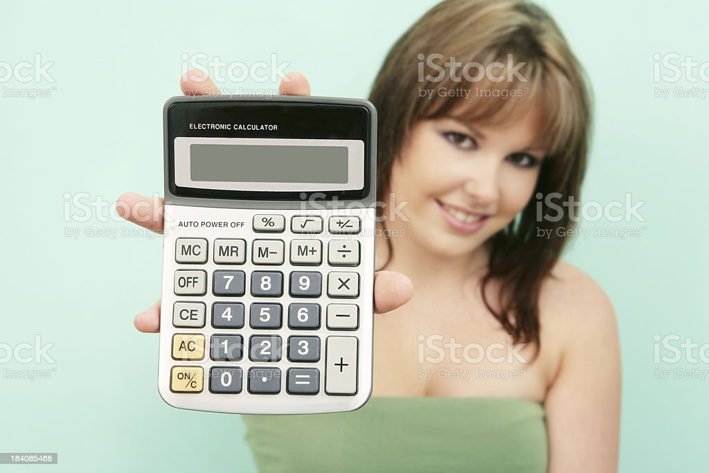 Calculate royalty-free stock photo