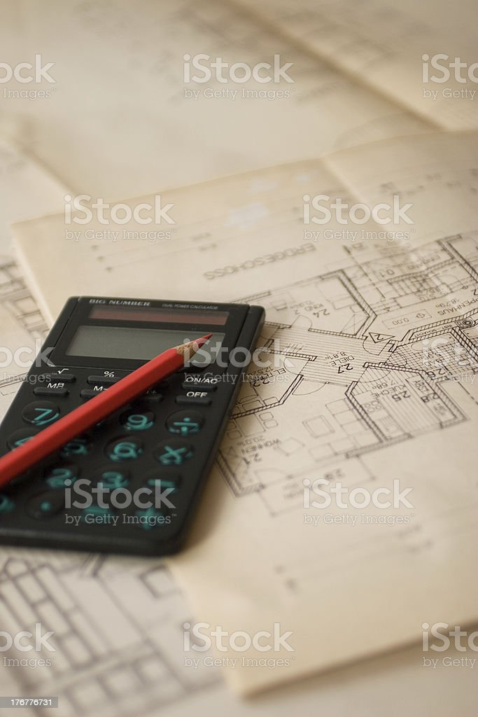 calculate the plan royalty-free stock photo