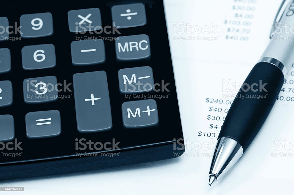 Calculating accounts royalty-free stock photo
