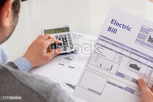 Accounting bill paper forms on the table closeup