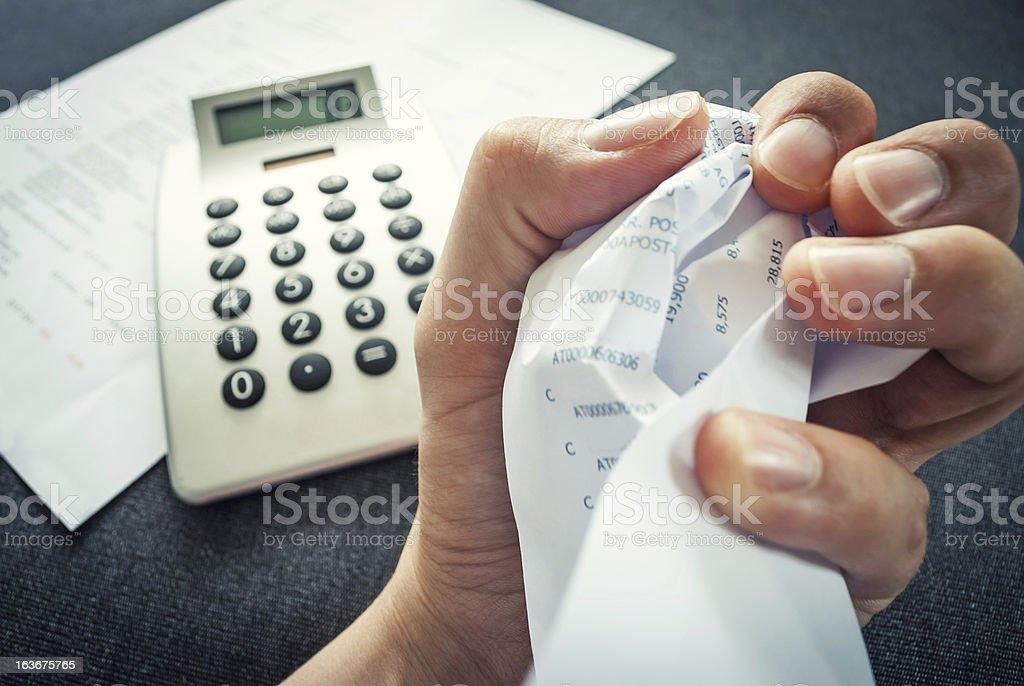 Calculating Fail stock photo