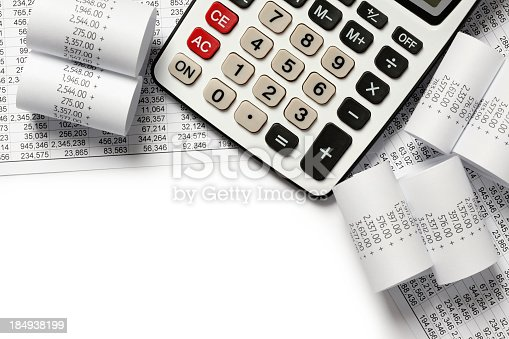 istock Calculating finances of receipts 184938199