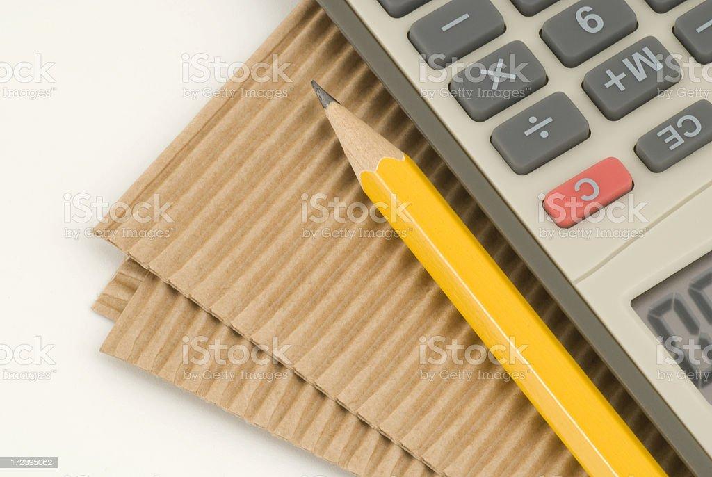 Calculating Financial Advisor royalty-free stock photo
