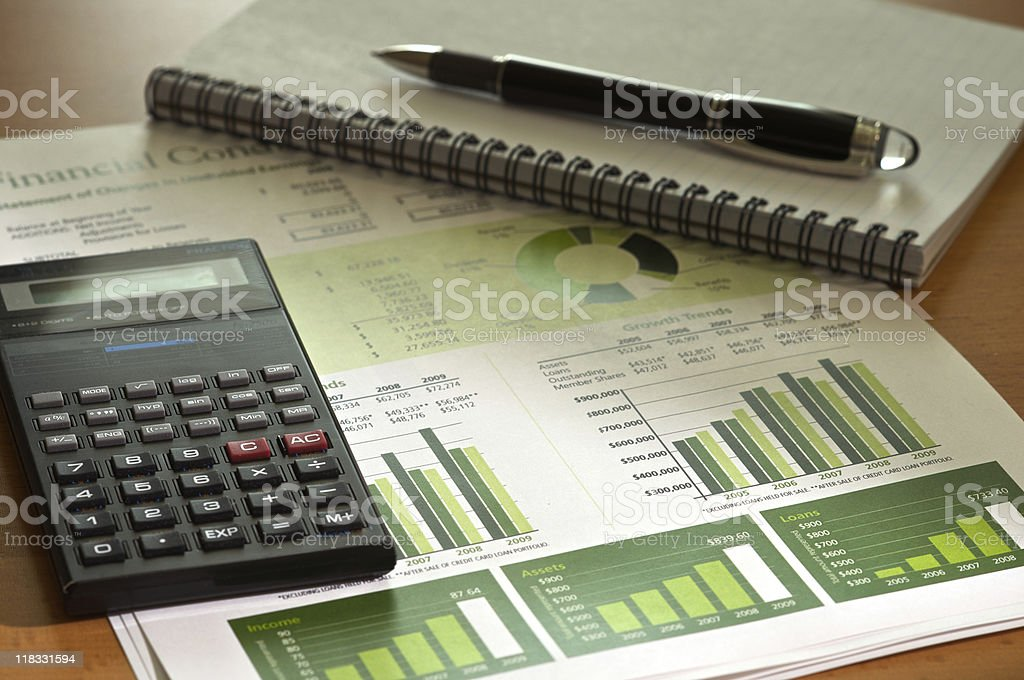 Calculating Financial Condition royalty-free stock photo