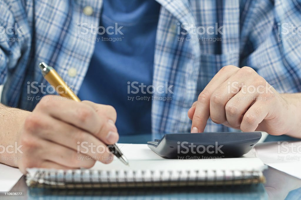 Calculating. royalty-free stock photo